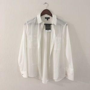 NWT Topshop white Button Down shirt